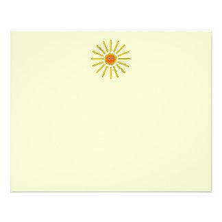 Verano soleado Sun. Amarillo en la crema Tarjetón