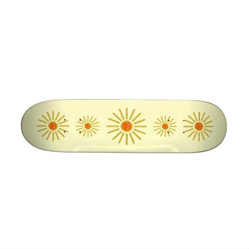 Verano soleado Sun. Amarillo en la crema Tablas De Patinar