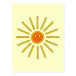 Verano soleado Sun. Amarillo en la crema Postal