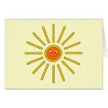 Verano soleado Sun. Amarillo en la crema Tarjetas