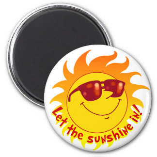 Verano sonriente Sun Imán Redondo 5 Cm