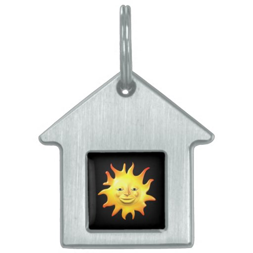 Verano Sun 2 Placa De Nombre De Mascota