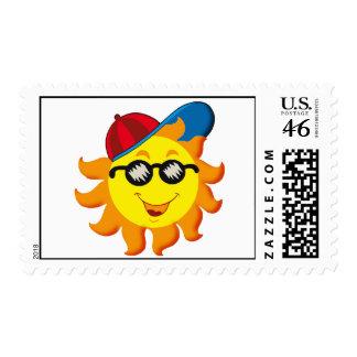 Verano Sun en Ballcap y gafas de sol
