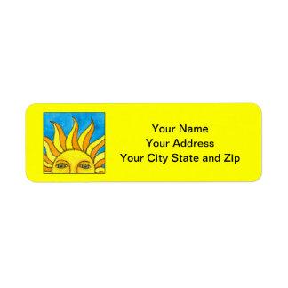 Verano Sun - etiquetas de dirección amarillas