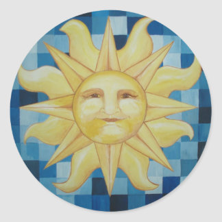 Verano Sun Pegatina Redonda