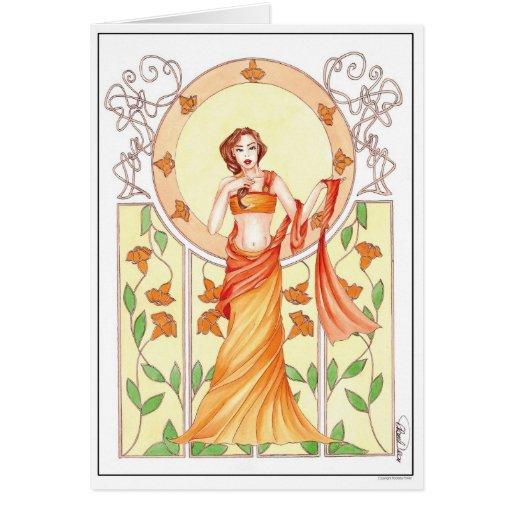verano tarjeta de felicitación