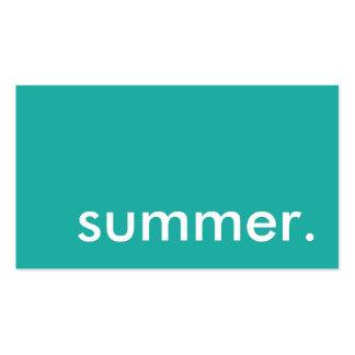 verano tarjetas de visita