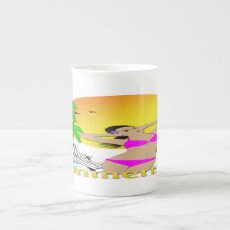 Verano - taza de la especialidad de la porcelana taza de porcelana