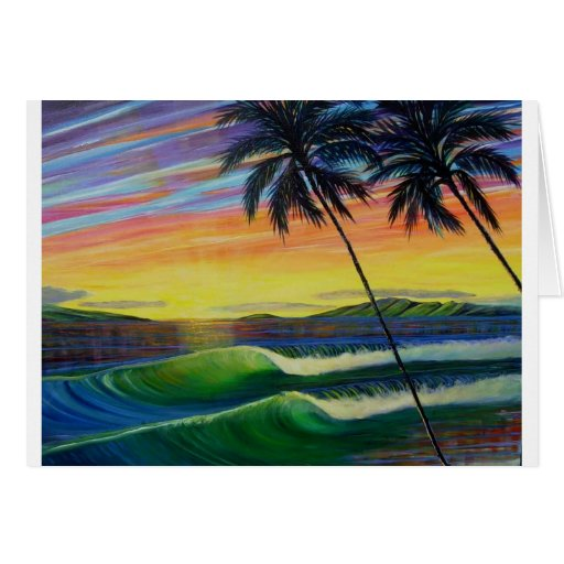 verano-tiempo-puesta del sol-oeste-mau tarjeta