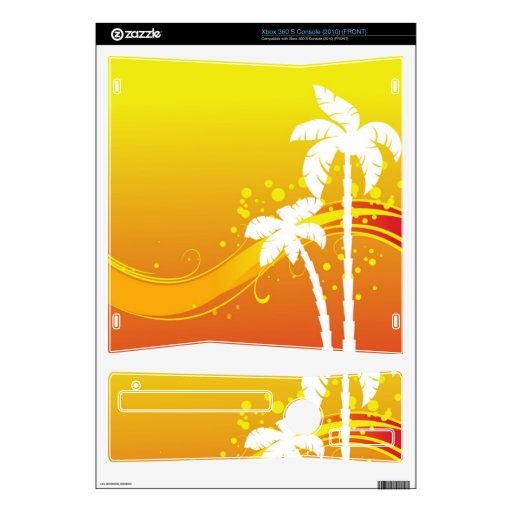 Verano tropical consola xbox 360 s skins