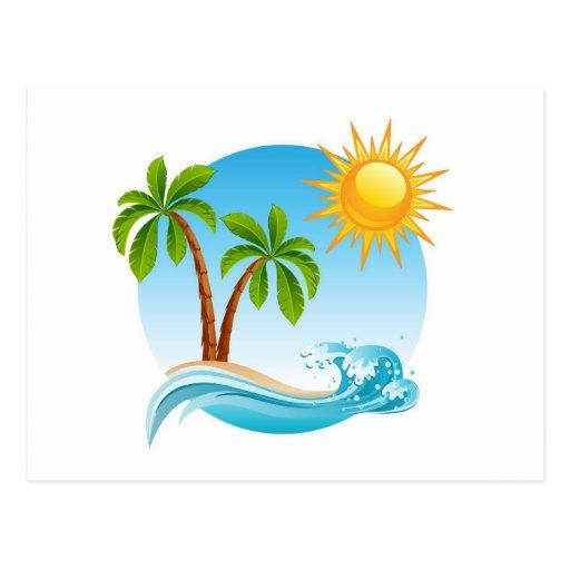 Verano tropical postal