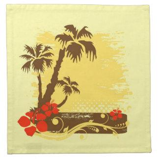 Verano tropical servilleta