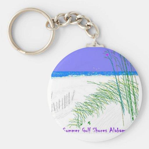 Veranos en las orillas del golfo llaveros personalizados
