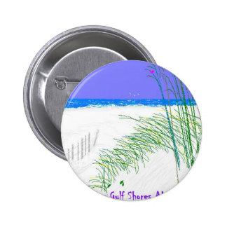 Veranos en las orillas del golfo pin redondo de 2 pulgadas