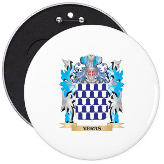 Veras Coat of Arms - Family Crest 6 Inch Round Button