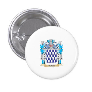 Veras Coat of Arms - Family Crest 1 Inch Round Button