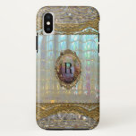 Veraspeece Baroque  Pretty Monogram Iphone X Case at Zazzle