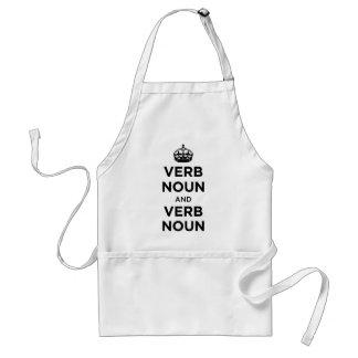 Verb Noun and Verb Noun - Keep Calm and Carry on Apron
