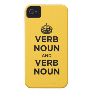 Verb Noun and Verb Noun - Keep Calm and Carry on iPhone 4 Case-Mate Cases