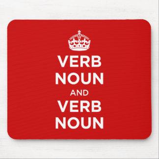 Verb Noun and Verb Noun Mouse Pad