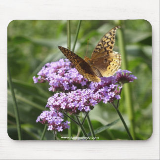 Verbena and butterfly mousepad