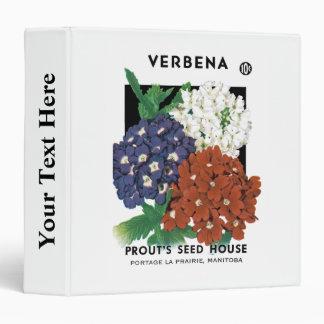 Verbena Seed Packet Label Vinyl Binder