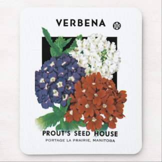 Verbena Seed Packet Label Mouse Pad