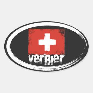 Verbier Grunge Flag Stickers