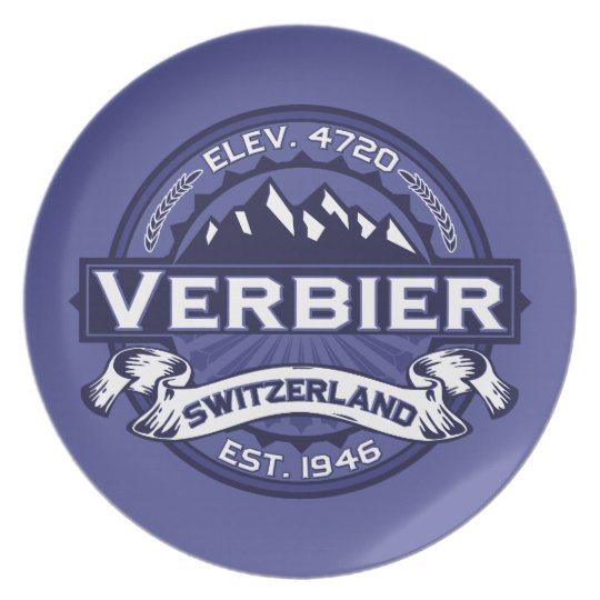 Verbier Logo Midnight Dinner Plate