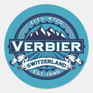 Verbier Logo Round Stickers