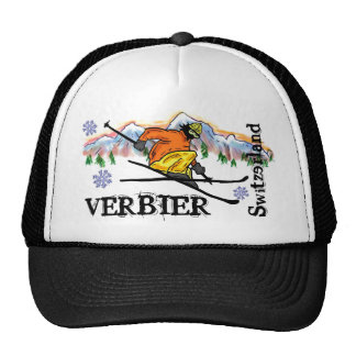 Verbier Switzerland ski mountain hat