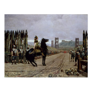 Vercingetorix  before Caesar, 52 BC, 1886 Postcard