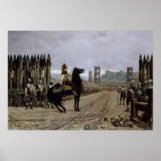 Vercingetorix  before Caesar, 52 BC, 1886 Posters