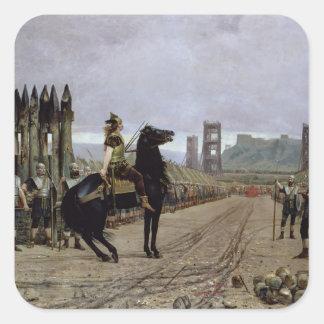 Vercingetorix  before Caesar, 52 BC, 1886 Square Stickers