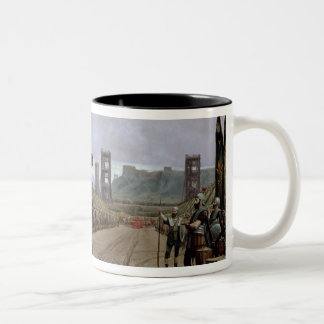 Vercingetorix  before Caesar, 52 BC, 1886 Two-Tone Coffee Mug