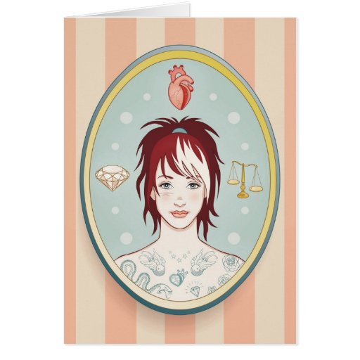 Verdad, amor, belleza tarjeta pequeña