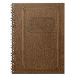 Verdad apariencia vintage: libro encuadernado de c libros de apuntes con espiral