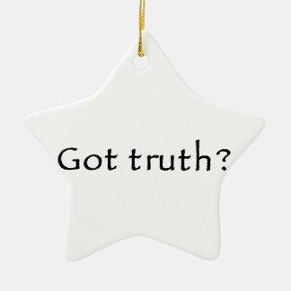 ¿Verdad conseguida? Adorno Navideño De Cerámica En Forma De Estrella