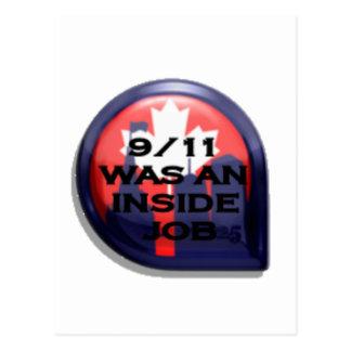 Verdad de Canadá 911 dentro del trabajo Postales
