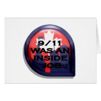 Verdad de Canadá 911 dentro del trabajo Tarjeta De Felicitación
