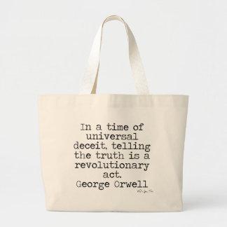 Verdad de Orwell Bolsa Tela Grande