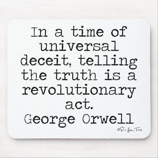 Verdad de Orwell Tapetes De Ratón