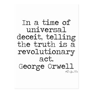 Verdad de Orwell Tarjetas Postales