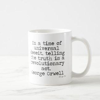 Verdad de Orwell Taza De Café