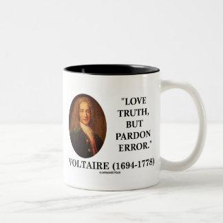 Verdad del amor de Voltaire pero cita del error de Taza De Café