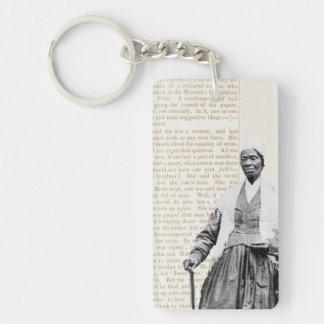 Verdad del Sojourner - las derechas de las mujeres Llavero Rectangular Acrílico A Doble Cara