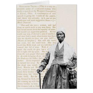 Verdad del Sojourner - las derechas de las mujeres Tarjeta Pequeña