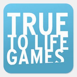 Verdad - - el logotipo de los juegos de la vida pegatina cuadrada