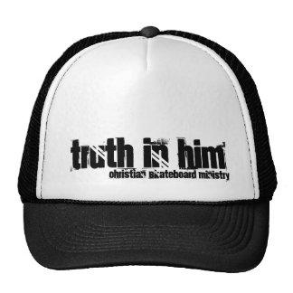 Verdad en él (el ministerio cristiano del monopatí gorras de camionero