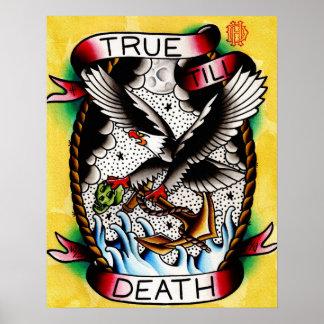 Verdad hasta la impresión de la muerte póster